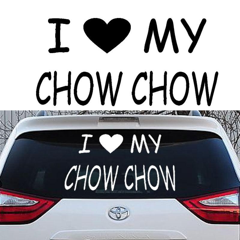 I Love My Chow Chow Sticker Vinyl Auto Window