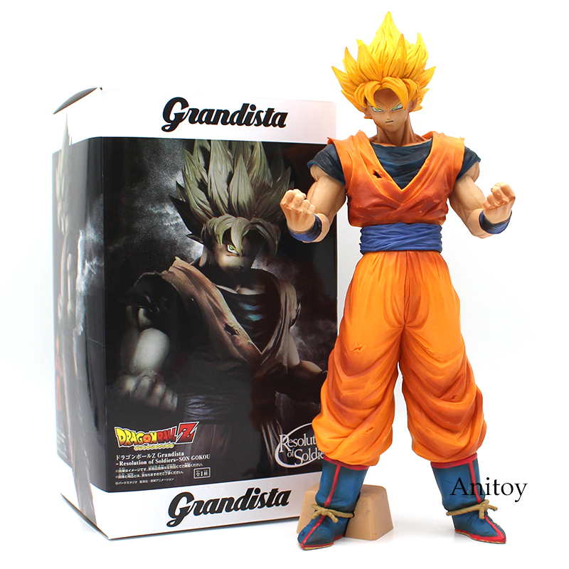 Dragon Ball Z Grandista ROS Resolution of Soldiers Son Goku Gokou PVC Figure Collectible Model Toy 31cm [pcmos] anime dragon ball z ros resolution of soldiers awaken son gokou 57 pvc figure 15cm 6in toys collection no box 5932 l