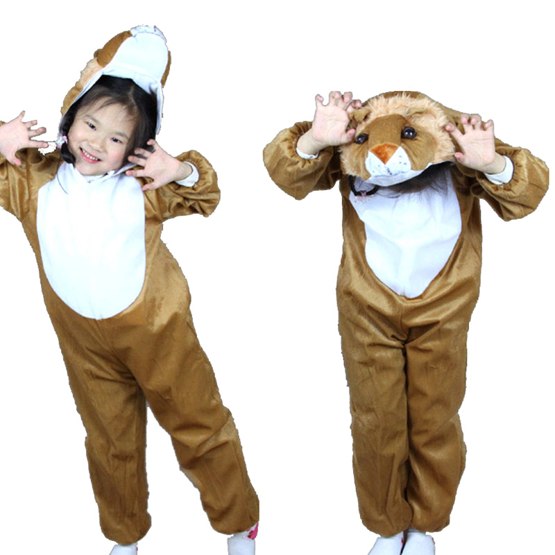 Animal Lion King Cosplay costume Fancy dress / Children's Day performance clothing / Halloween Kids Cartoon animal suits