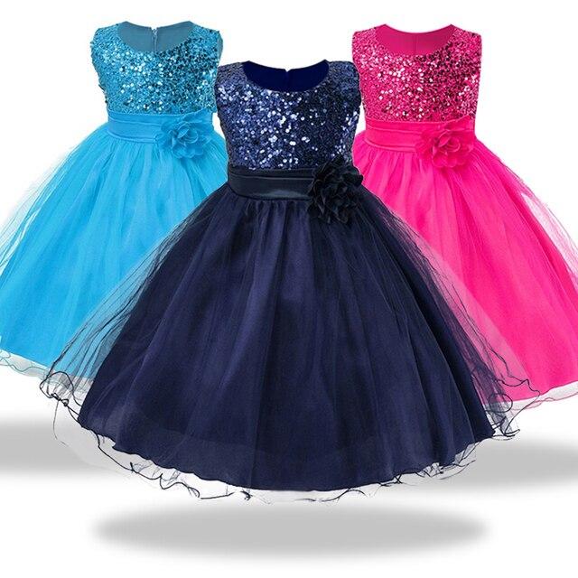 6a58f9055 1-14 años adolescentes niñas vestido de fiesta de boda princesa Navidad vestido  para niña