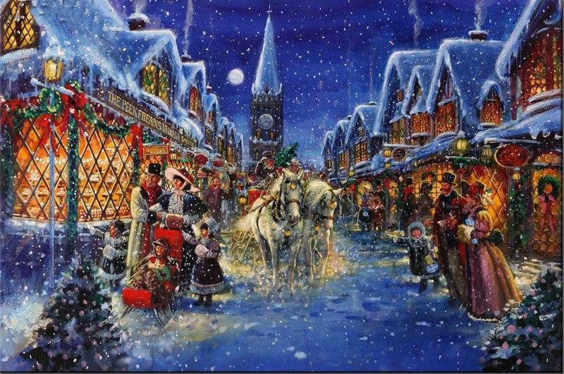 5D DIY Fun Diamond Painting Cross Stitch Christmas Streetscape Craft Decor Full Diamond Embroidery Mosaic horses icons Painting