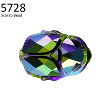 (1 piece) 5728 Scarab Bead 12mm 100% Original crystals from Swarovski made in Austria loose rhinestones for DIY jewelry making