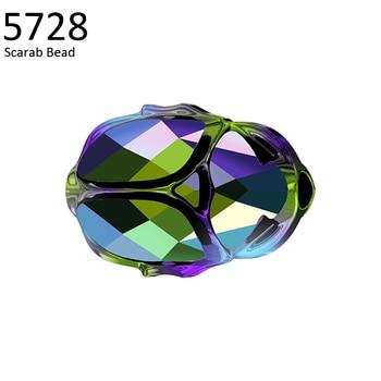 (1 piece) 5728 Scarab Bead 12mm 100% Original crystals from Swarovski made in Austria loose rhinestones for DIY jewelry making