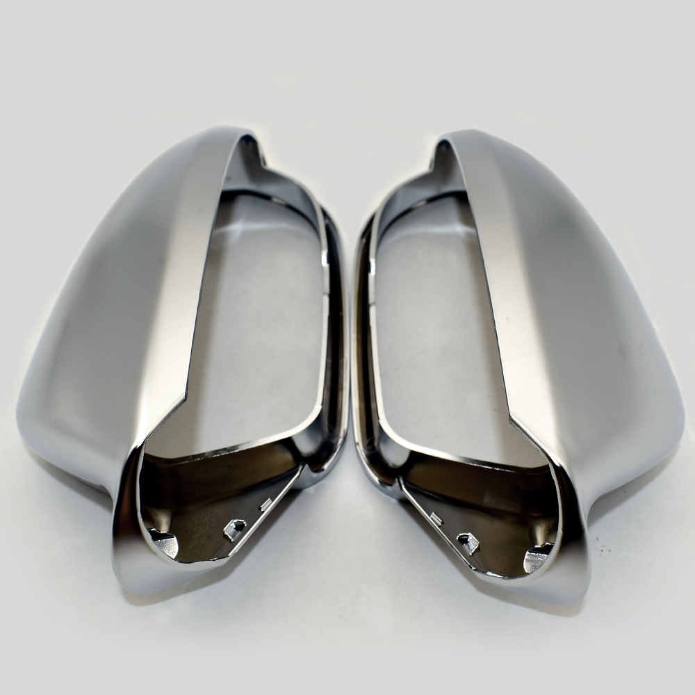 For Audi A6 S6 C7 4g Side Wing Mirror Covers Caps Silver Matte Chrome 2013 2014 2015 2016 2017 2018 Aluminum Brushed in Mirror Covers from Automobiles Motorcycles