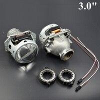 2pcs 3 0 Inch Hella 5 Car Bi Xenon Bixenon Hid Projector Lens Metal HolderD1S D2S