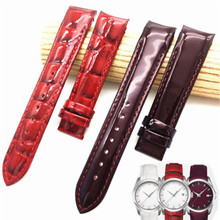 18mm (Buckle16mm) For Tissot Women Watch  T035210A T035207 High Quality Genuine Leather Watch Bands Strap цена