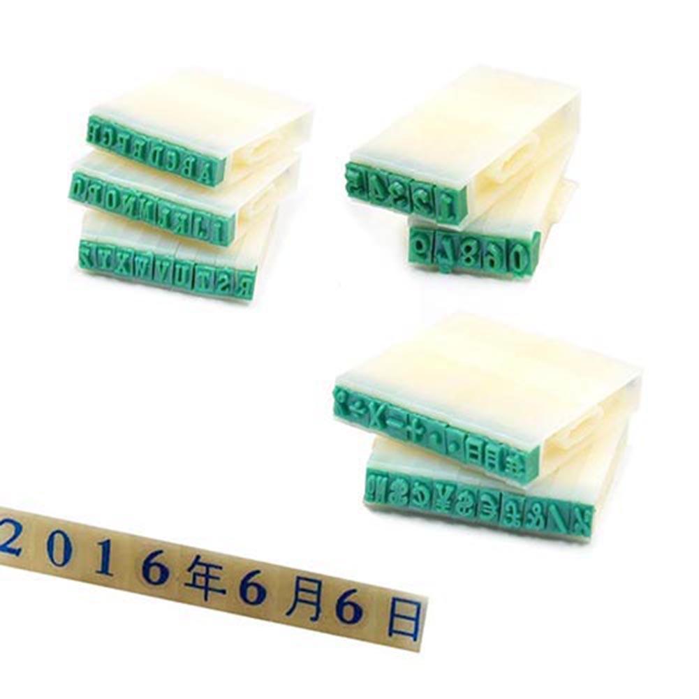 2019 HOT SALE! Plastic English Alphabet Letters Number Stamps Set Craft Marking DIY Tool