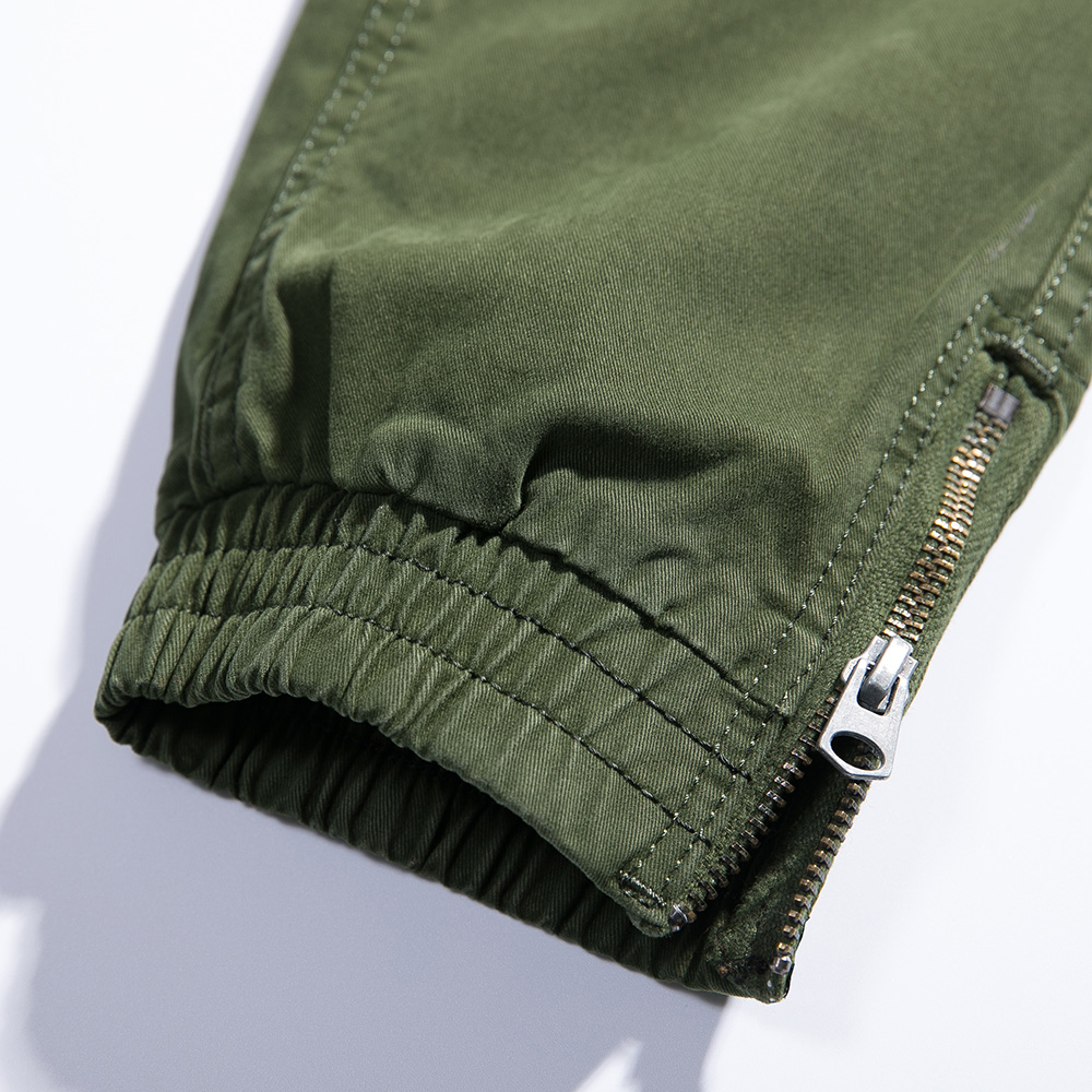 2018 New Men Cargo Pants army green big pockets decoration mens Casual trousers easy wash male autumn army pants plus size 38 - 2