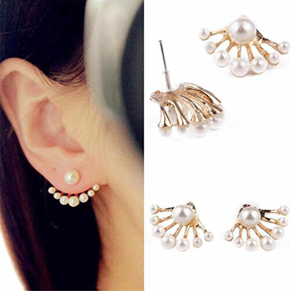 Stylish Earrings Women Boho For Women Earrings Jewelry Pearl Earbob Boucle D'oreille Femme 2019 Kolczyki Pendientes Mujer  L0615