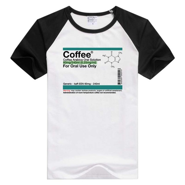 8b9cd17fb Coffee Oral Solution short sleeve Men T-shirt Tshirt Cool Print Tops tee  funny design GA784