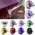 1 pack/10 Pcs 40mm Strass Diamant Form Kristall Glas Knob Schrank Schublade Ziehen Griff Knob Kostenloser- verschiffen E2shopping JDH99
