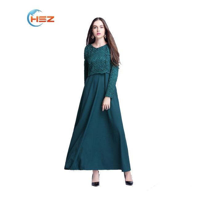 Новый Исламский Абая Кружева Платья Женщин Кафтан-Кафтан Малайзия Abayas Турецкие Дамы Одежда Мода Женщин-Мусульманок Платье