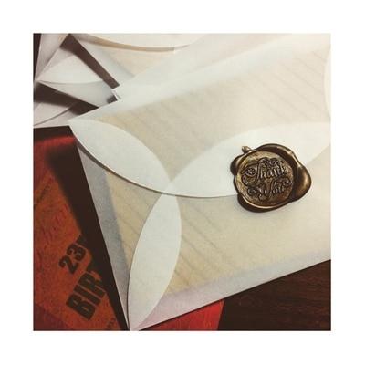 100Pcs/lot 8.9x5.8cm Retro translucent envelope Handmade ...