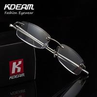 Luxury Reading Glasses For Women Aluminum Frame Men Presbyopia Eyewear Italy Design Metal Fashion Comfortable KDEAM