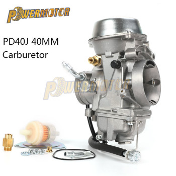 40mm PD40J 4 Stroke Motorcycle Carburetor Vacuum Carburetor Case ATV Quad Carb For POLARIS SCRAMBLER 500 4X4 SPORTSMAN 500 Worke 40mm pd40j 4 stroke motorcycle carburetor vacuum carburetor case atv quad carb for polaris scrambler 500 4x4 sportsman 500 worke