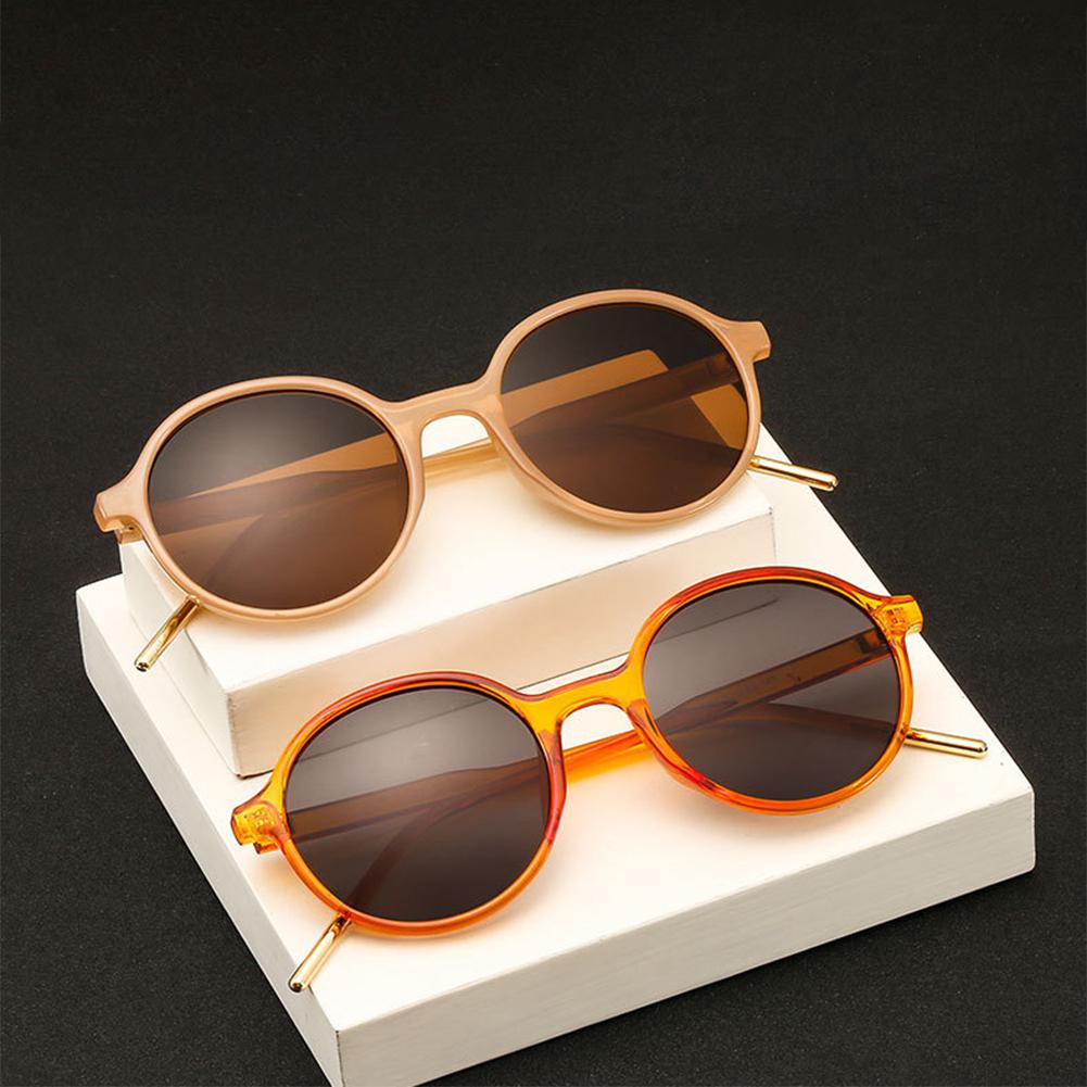 Yfashion Women Lightweight Design Oval Frame UV400 Protection Fashionable Round All Matching Anti-uv Sunglasses