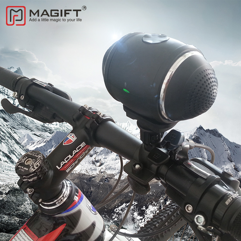 Magift Bluetooth Outdoor Bicycle speaker with <font><b>Mount</b></font> on Bike Support TF Card FM Radio 3.5mm AUX Cable Bluetooth Subwoofer Column