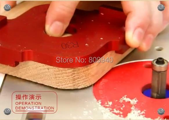 3 шт./компл. ручной обрезной станок круглая пластина деревообрабатывающая круглая направляющая линейка фрезерный алюминиевый сплав дуговые Плотницкие Инструменты