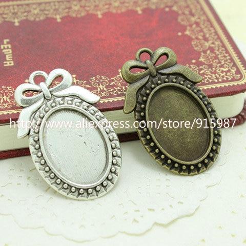 10pcs Filigree Flower Blank Photo Cameo Settings Tray Base Pendants Jewelry
