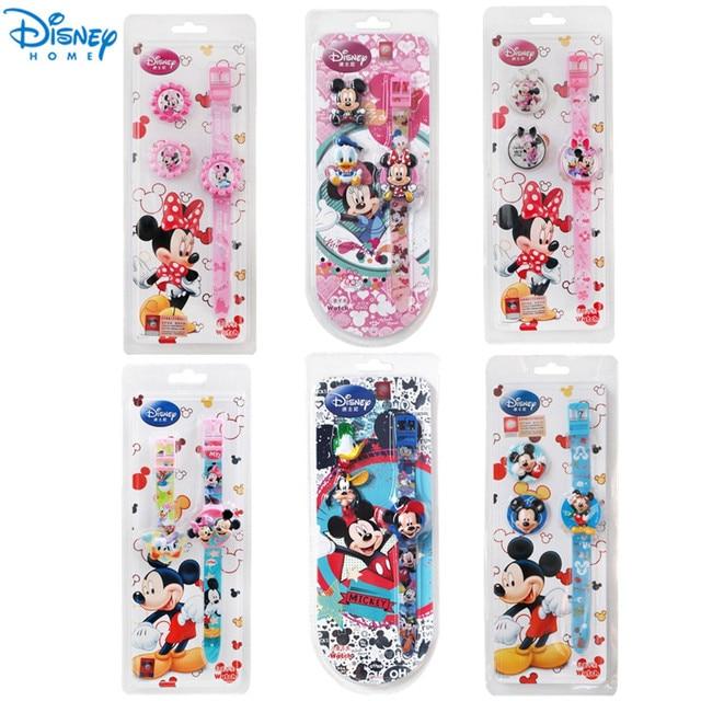 100% Genuine Disney mickey Brand Children Cartoon wrist Watch Fashions Silicone Sports Watch kids Dress Watch relogios XMAS GIFT