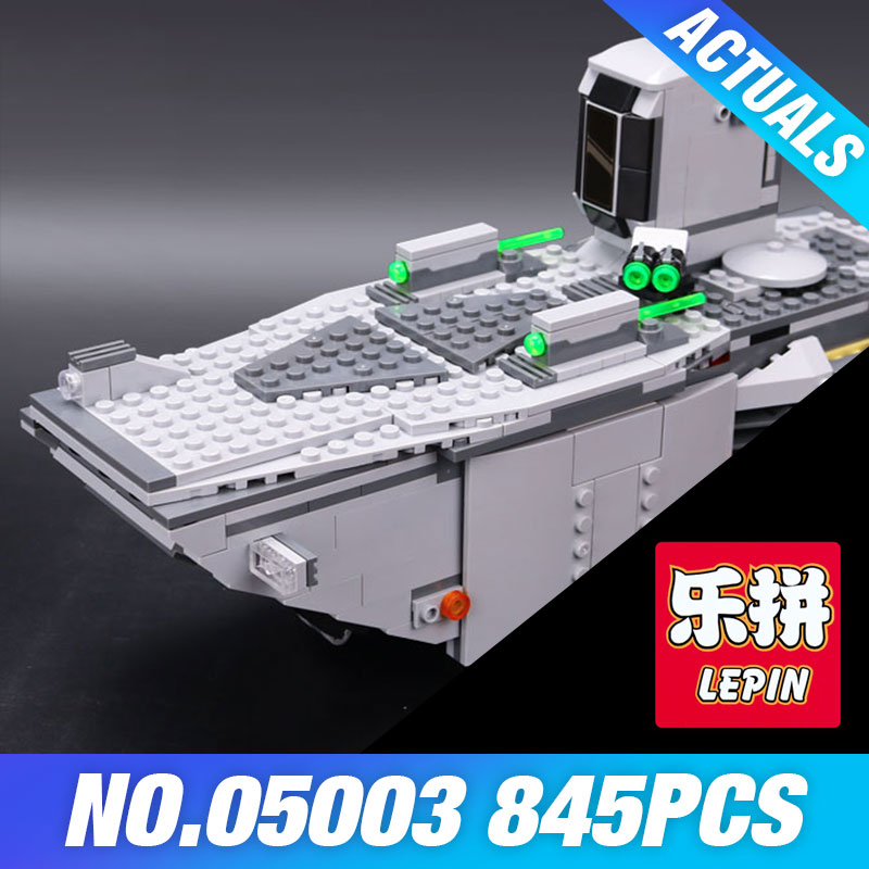 все цены на LEPIN 05003 Star Force Wars Awakens First Order Transporter Toys Building Blocks Marvel classic model Educational DIY Boy's Gift онлайн