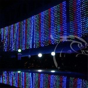 Image 2 - 10X1 M 448 Ngoài Trời Màn Dây Đèn Chúc Mừng Giáng Sinh Đảng Tiên Cưới LED Màn Ánh Sáng 220 V 110 V US AU EU Cắm