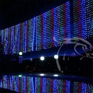 Image 2 - Novo 10x1 m 448 led ao ar livre cortina de luz da corda natal festa de natal fada casamento led cortina de luz 220v 110v eua au plugue da ue