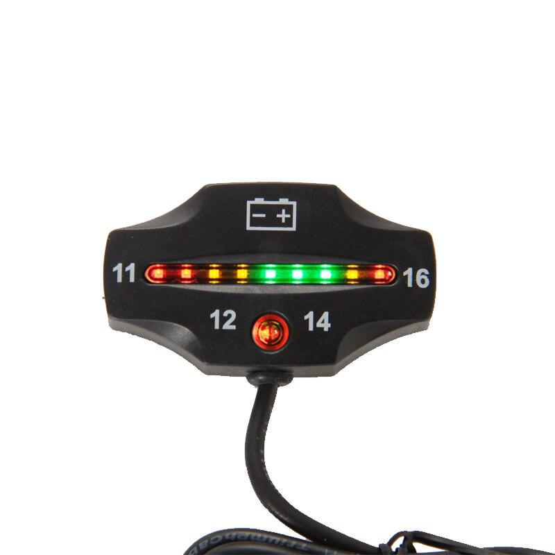 RL-BI006 <font><b>Battery</b></font> Gauge 9 LED <font><b>battery</b></font> <font><b>VOLT</b></font> <font><b>meter</b></font> <font><b>battery</b></font> indicator 12v FOR Auto Motorcycle ATV Tractor Trolling Motor