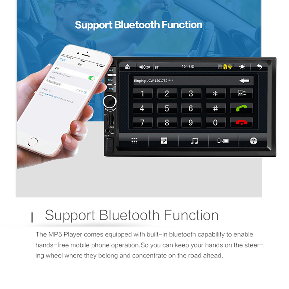 Navigation pour 2 din voiture gps autoradio bluetooth radio voiture multimédia lecteur 2din Cassette enregistreur carplay avec téléphone android - 3