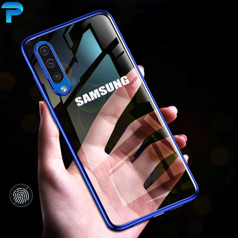 Luxury Laser For Samsung Galaxy A30 A20 A50 A10 A70 A40 M20 A50 Case Plating TPU Cover Back Soft Transparent Silicone Shockproof