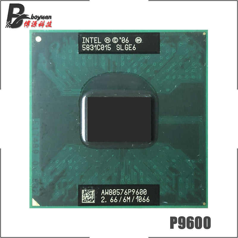 Intel Core 2 Duo Mobile P9600 SLGE6 2.6 GHz Dual-Core Dual-Thread di CPU Processore 6 M 25 W Socket P