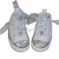Handmade Custom Moccasins Bling Rhinestons Espadrilles Kids Fashion Bridal Wedding Flower Baby Shoes Boutique Luxury Shoes