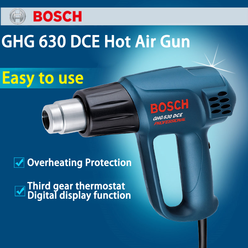 Germany Hot Air Machine GHG630DCE Electricity roast Device Power Tools For Car Paste Membrane 2000W Third Gear Thermostat bosch phg 630 dce 060329c708