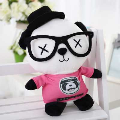 large panda in pink coat  about 70cm plush toy panda doll soft throw pillow, birthday gift x029 110cm cute panda plush toy panda doll big size pillow birthday gift high quality