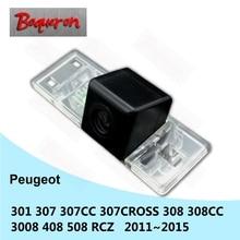 Dla Peugeot 301 307 307CC 307 krzyż 308 308CC 3008 408 508 RCZ HD Night Vision Backup Parking kamera cofania tylna kamera samochodowa