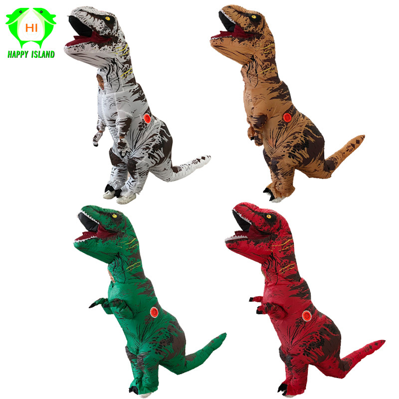 Obedient Children Inflatable Dinosaur T Rex Costumes Fantasia Kids Halloween Cosplay Costume For Girls Boys Disfraces Kids 8 Colors Home