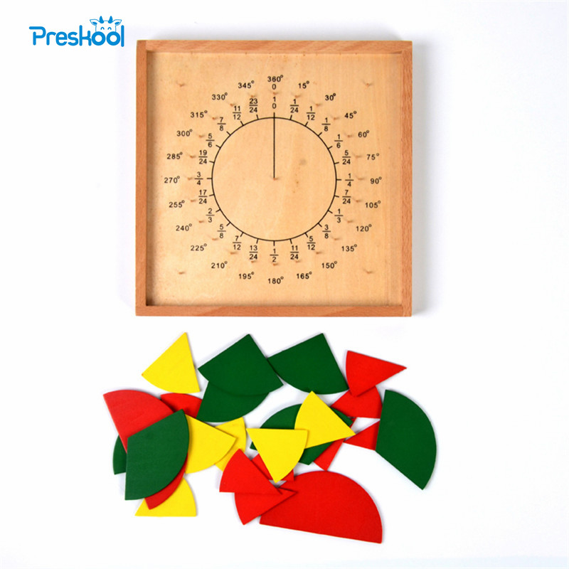 Baby Toy Montessori Circular Math Fraction Division Teaching Aids Wood Board Education Preschool Kids Brinquedos Juguetes