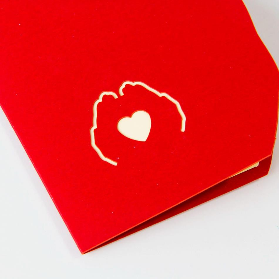 3d Pop Up Foldable Greeting Cards Creative Handmade Love In The Hand
