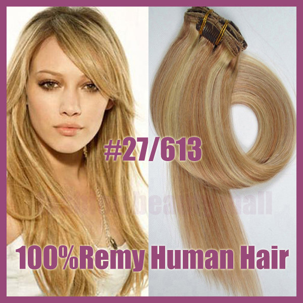 100 Brazilian Remy Straight Clips In Human Real Hair Extensions