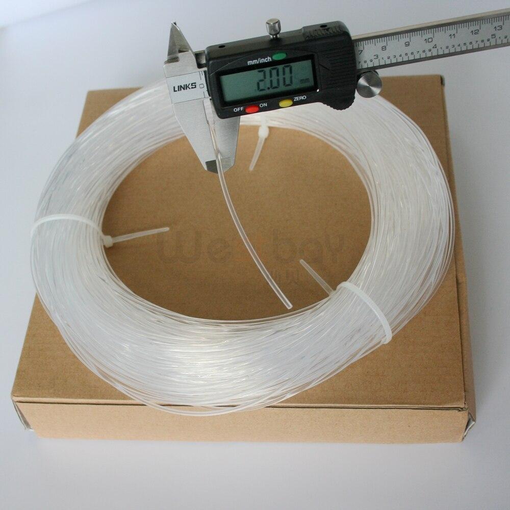 5meters 2.0mm Side Glow Fiber Optic Cable car light, EL wire ...