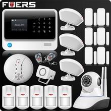 2019 G90B בתוספת 2.4G WiFi GSM בית מעורר GPRS SMS אלחוטי בית אבטחת בית אזעקה מערכת IP WiFi מצלמה עשן חיישן