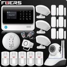 2019 G90B Più 2.4G WiFi di Allarme Domestico di GSM GPRS SMS Wireless Home Security Casa Intruder Sistema di Allarme IP WiFi macchina fotografica del Sensore di Fumo