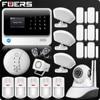 2019 G90B Plus 2.4G WiFi GSM Home Alarm GPRS SMS Wireless Home House Security Intruder Alarm System IP WiFi Camera Smoke Sensor