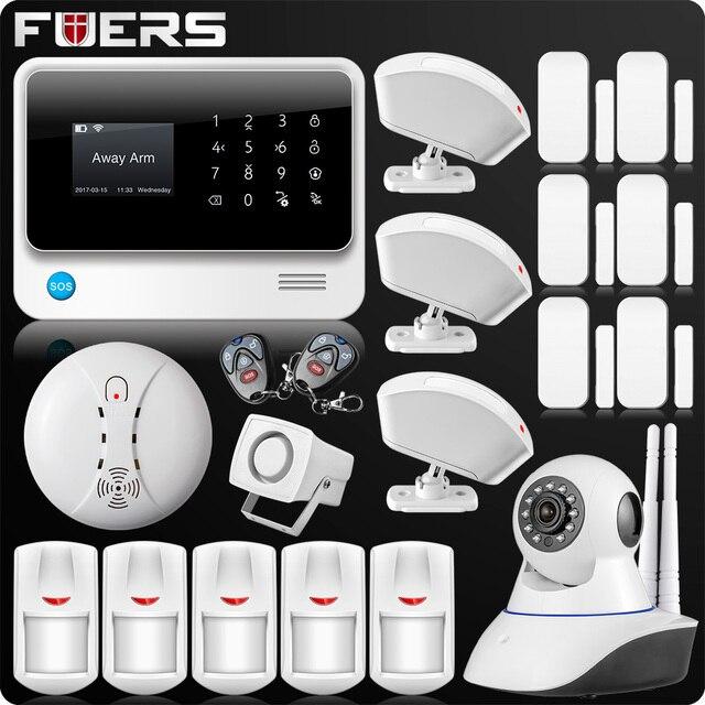 2019 G90B Plus 2,4G WiFi GSM alarma de Casa GPRS SMS inalámbrica de seguridad de la casa Sistema de alarma contra intrusos IP WiFi Cámara Sensor de humo