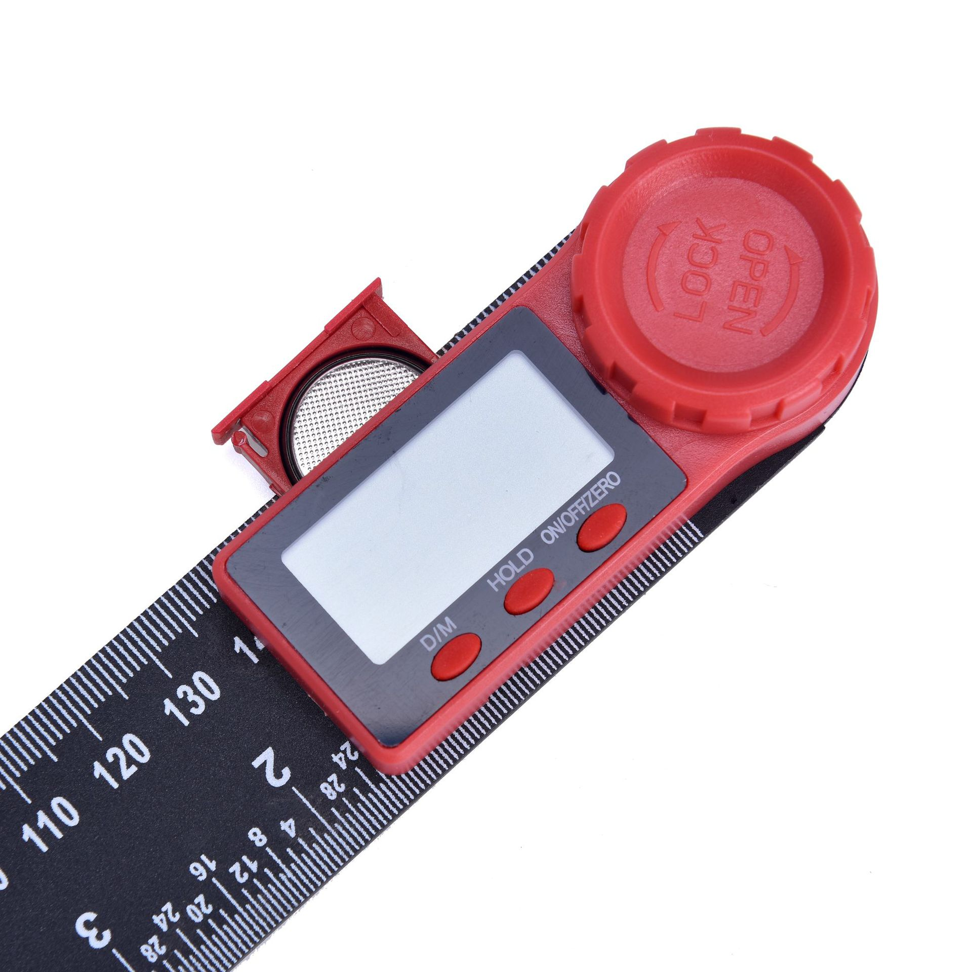 Image 2 - 0 200mm 8'' Digital Meter Angle Inclinometer Angle Digital Ruler Electron Goniometer Protractor Angle finder Measuring Tool-in Protractors from Tools
