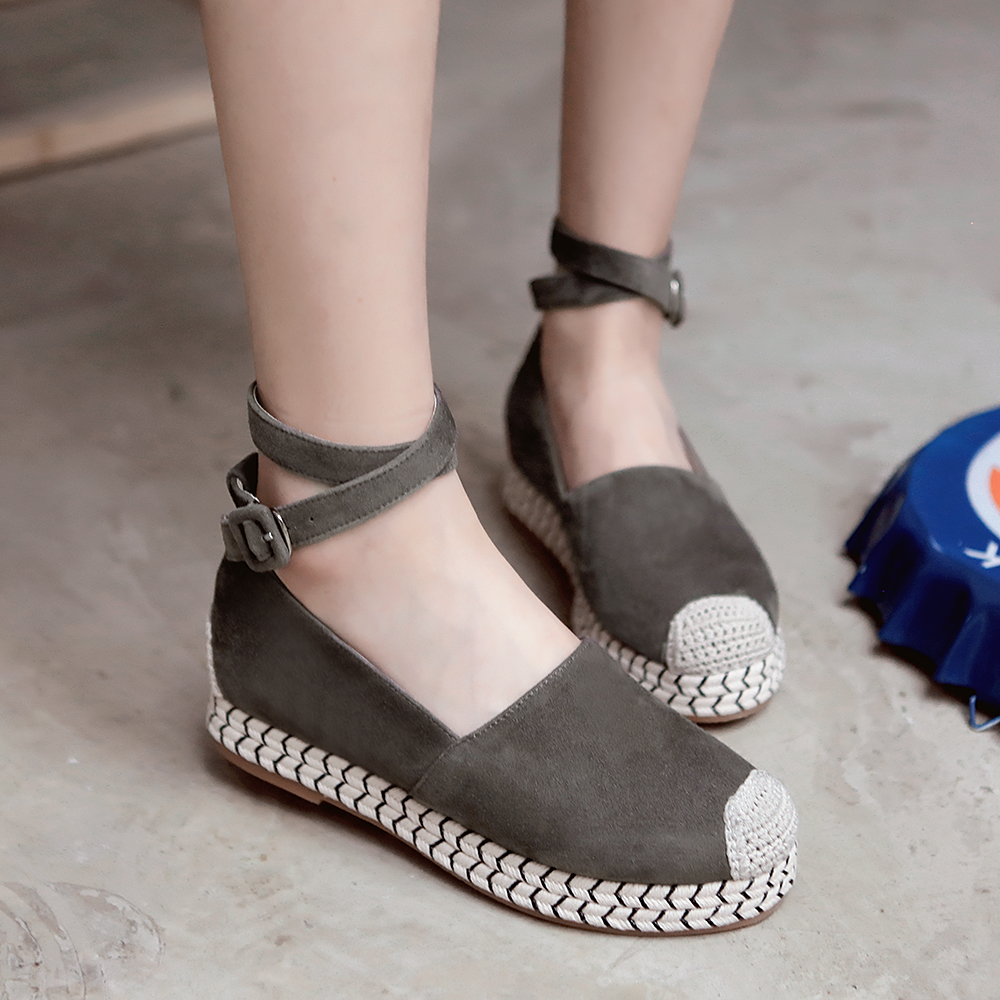 2016 Spring Autumn Platform Flats Loafers Ankle Strap Moccasins Shoes for font b Women b font