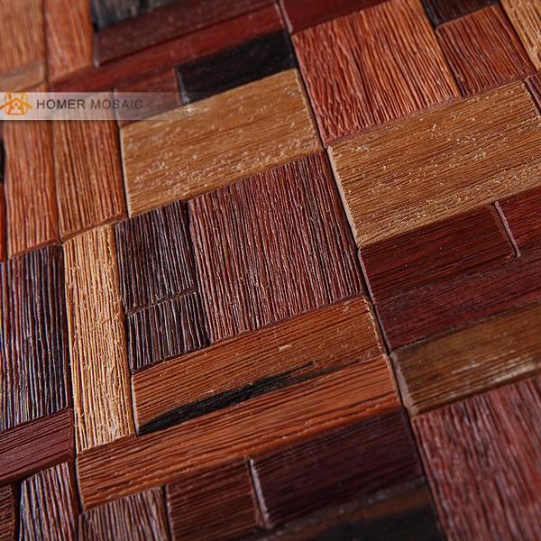 Natural Boat Wood Mosaic Tile Backsplash Bathroom Tile