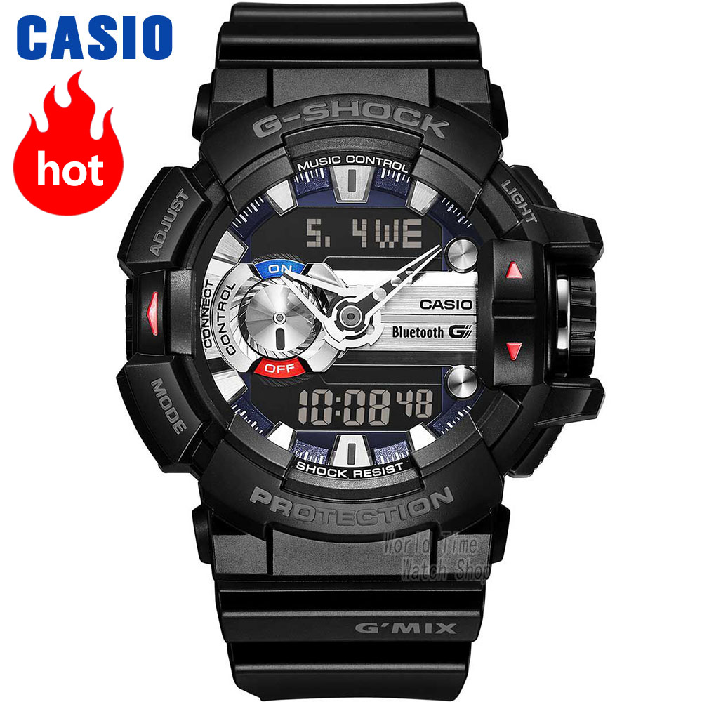 Часы Casio G-SHOCK Мужские кварцевые спортивные часы интеллектуальная музыка bluetooth водонепроницаемые g shock Часы GBA-400
