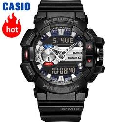 Casio assista homens g choque top marca de luxo conjunto de quartzo 200m impermeável Sport mergulho relógio de pulso g-shock Militar Bluetooth controle de música LED digital homens assista relogio masculino reloj meski