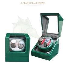 High Light Green Wooden Watch Winder Box 5 Modes Carbon Fibre Inside Automatic Watch Winder